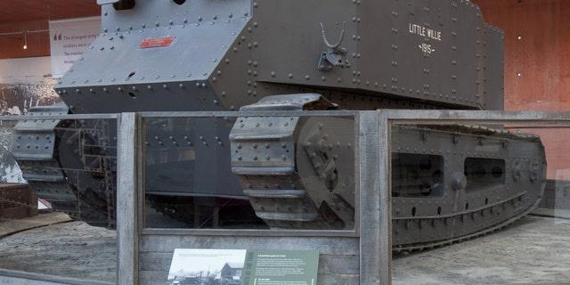Little Willie tank housed at The Tank Museum in Bovington, U.K.