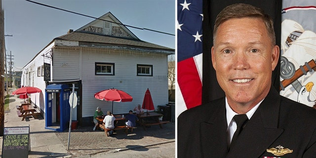 Capt. Loften Thornton was dismissed for 'loss of trust and confidence,' a Marine Forces Reserve spokesman said, after the incident at the Crown & Anchor English Pub.