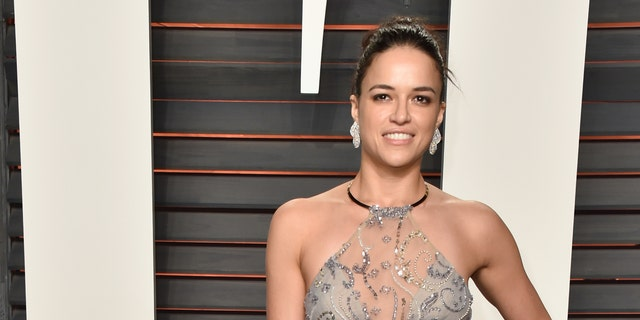BEVERLY HILLS, CA - FEBRUARY 28:  Actress Michelle Rodriguez attends the 2016 Vanity Fair Oscar Party Hosted By Graydon Carter at the Wallis Annenberg Center for the Performing Arts on February 28, 2016 in Beverly Hills, California.  (Photo by Pascal Le Segretain/Getty Images)