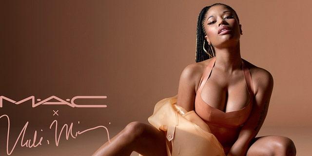 Nicki Minaj poses for a MAC ad.