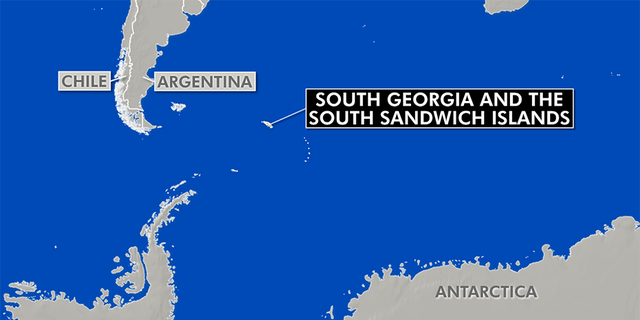 South Georgia is about 800 miles south east of the Falkland Islands (Bing)
