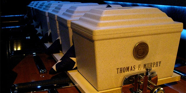 These cremated remains were interred in October at the West Virginia National Cemetery in Grafton during a ceremony held by Missing in America Project officials. The veterans served during World War II and the Korean and Vietnam wars. (Courtesy: MIAP)