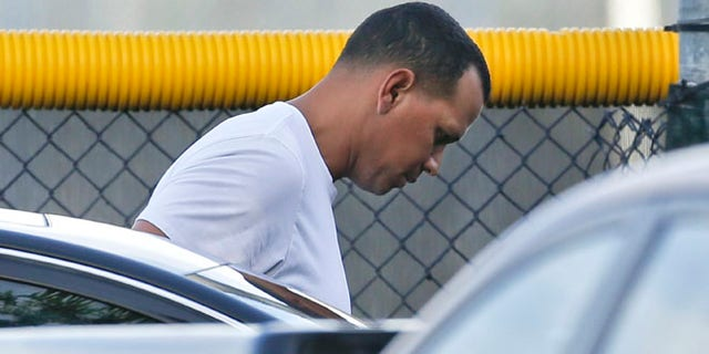 Aug 1, 2013: New York Yankees third baseman Alex Rodriguez arrives to workout at the Yankees minor league complex in Tampa, Fla.