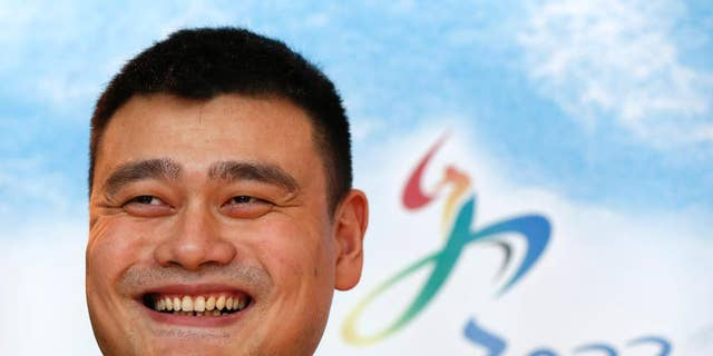 Yao Ming, seen here in 2015, was drafted by the Rockets in 2002.