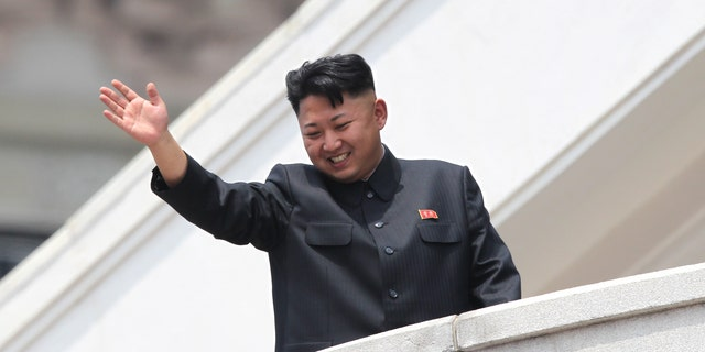 July 27, 2013 - FILE photo of  North Korean leader Kim Jong Un, waving to war veterans during a mass military parade celebrating the 60th anniversary of the Korean War armistice in Pyongyang, North Korea.