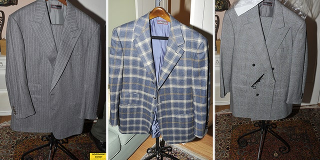 The prosecution has released exhibit photos of Manafort's expensive clothes, including a large number of suits.