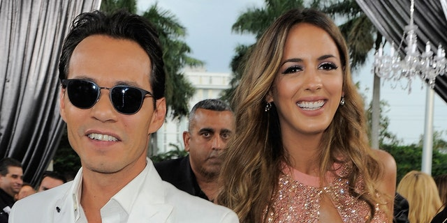 "MIAMI, FL - APRIL 30:  Marc Anthony and Shannon De Lima attend the 2015 Billboard Latin Music Awards ""Premios Billboard"" at BankUnited Center on April 30, 2015 in Miami, Florida.  (Photo by Sergi Alexander/Getty Images for Billboard)"