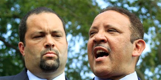July 21: Marc Morial, right, president of the National Urban League, and Ben Jealous, president of the NAACP, speak to reporters after a meeting with President Obama at the White House in Washington, D.C.