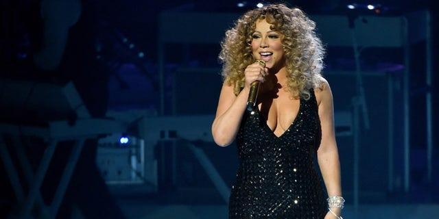Mariah Carey at The Colosseum at Caesars Palace on May 6, 2015 in Las Vegas, Nevada.