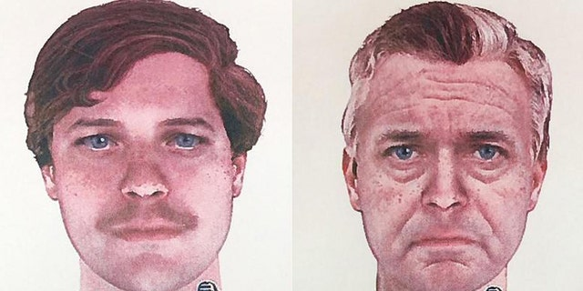Marinette County Sheriff's Office releases sketches on Monday of a suspect in the 1976 double murder of a young couple.