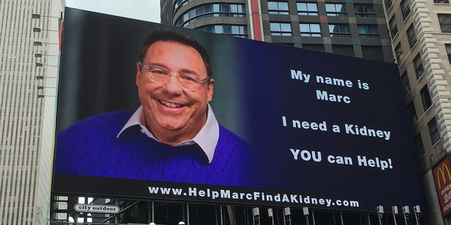 Marc Weiner decided to take his search for a donor to Times Square.