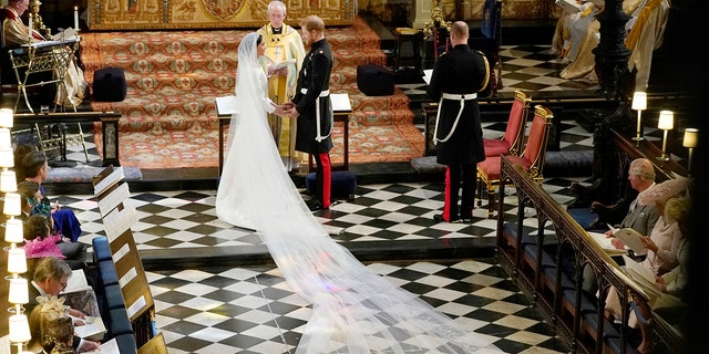 Meghan Markle and Prince Harry at their May 19 wedding.