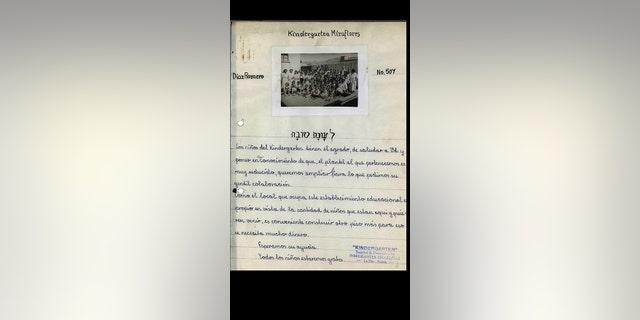 Letter to Mauricio Hochschild Kinder- Garten Miraflores
