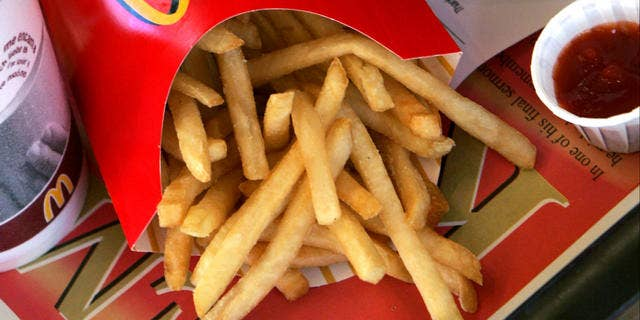 2006 file of McDonald's french fries and ketchup.