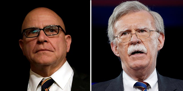 John Bolton, right, is replacing H.R. McMaster as President Trump's National Security Adviser.