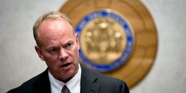 Wyoming Gov. Matt Mead said his family was unharmed Tuesday when an intruder allegedly entered the family's home.