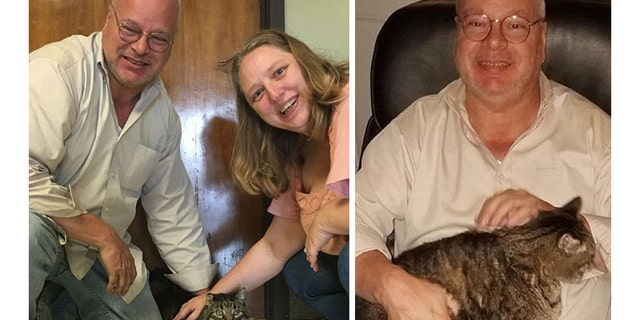 Steve Gusman and partner Mary Armstrong adopted Meatball after seeing him in a viral Facebook post.