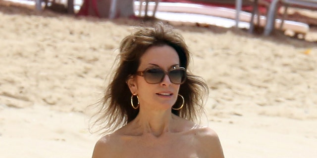 The famous actress went viral after photos of her on the beach in a red swimsuit surfaced online in February.