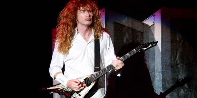 "May 30, 2010: Dave Mustaine of U.S band ""Megadeth"" performs at the Rock in Rio Music Festival in Lisbon. (Reuters)"