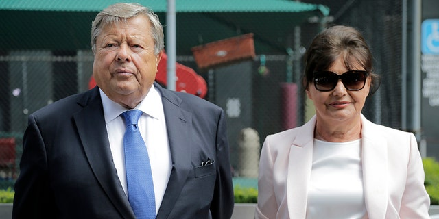 First lady Melania Trump's parents, Viktor and Amalija Knavs, took the oath of citizenship in New York City.