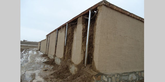 A police training center's dry fire range (DFR), commissioned by the US government as part of Afghanistan reconstruction efforts, began to disintegrate in less than four months after its completion in 2012.