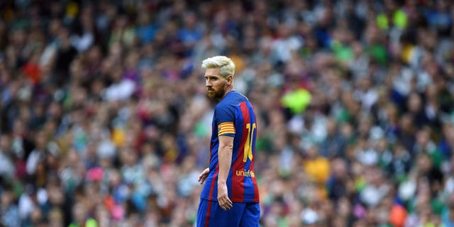 Lionel Messi on July 30, 2016 in Dublin, Ireland.