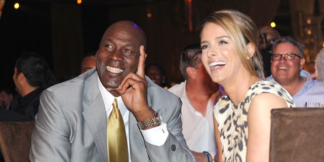 Michael Jordan and Yvette Prieto at CityCenter March 30, 2011 in Las Vegas, Nevada.