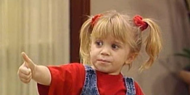 """Michelle Tanner doing her signature thumbs up, which coincides with her catchphrase, """"You got it, dude."""""""