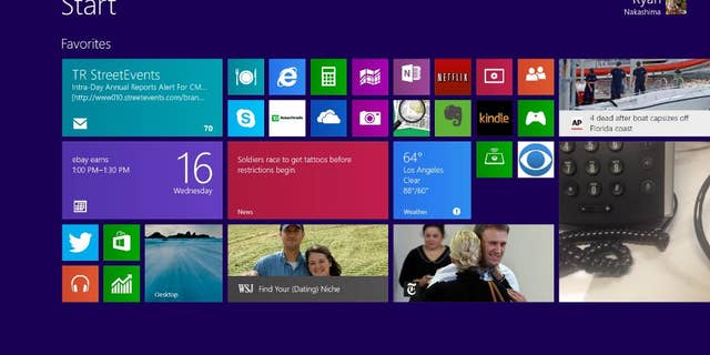 This Wednesday, Oct. 16, 2013  file image shows a pre-release version of Windows 8.1 on a tablet in Los Angeles. A new, yet-unnamed Windows update is expected this spring, just months after the Windows 8.1 update came out.