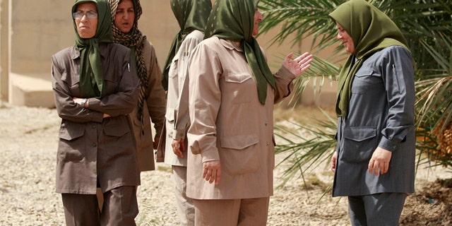 Sept. 11, 2012: Members of the Mujahedeen-e-Khalq organization seen inside the Liberty refugee camp in Baghdad, Iraq.
