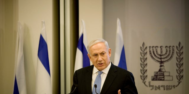 Feb 10: Israel's Prime Minister Benjamin Netanyahu delivers a speech about Israel's economy in Tel Aviv, Israel. Netanyahu emphasized the Israel-Egypt peace treaty signed in 1979.