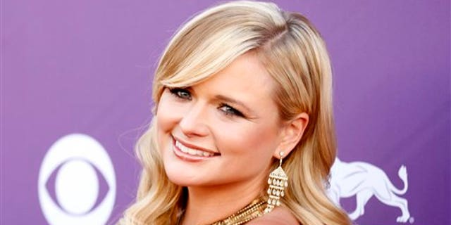 April 1, 2012: Miranda Lambert arrives at the 47th Annual Academy of Country Music Awards in Las Vegas.