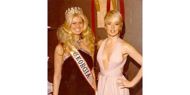 Diana Goodman (left) as Miss Georgia.