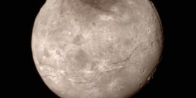 Charon image from New Horizons' Long Range Reconnaissance Imager (LORRI).
