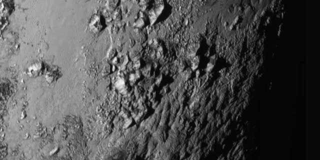 Closeup image of Pluto.