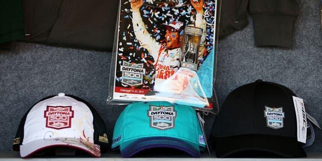 DAYTONA BEACH, FL - FEBRUARY 22: A view of Daytona 500 memorabilia on sale during the NASCAR Sprint Cup Series 57th Annual Daytona 500 at Daytona International Speedway on February 22, 2015 in Daytona Beach, Florida. (Photo by Patrick Smith/Getty Images)
