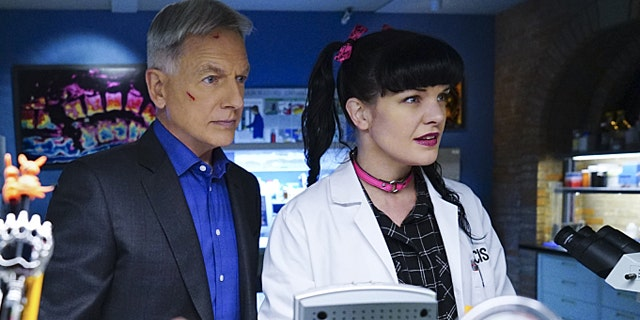 Mark Harmon and Pauley Perrette star in a NCIS episode.