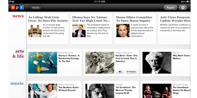 FILE: NPR's iPad app