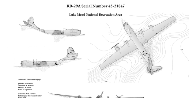 A National Park schematic of the downed plane. (National Park Service)