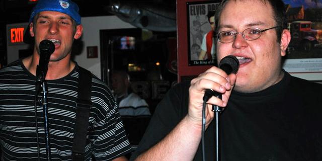 'Numa Numa Guy' Gary Brolsma (right) and his guitarist. (Gary Brolsma)