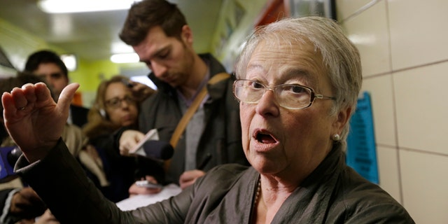 New York City Schools Chancellor, Carmen Farina, speaks to the media at The Laboratory School of Finance and Technology M.S. 223 Thursday, Jan. 2, 2014, in the Bronx borough of New York. (AP Photo/Frank Franklin II)