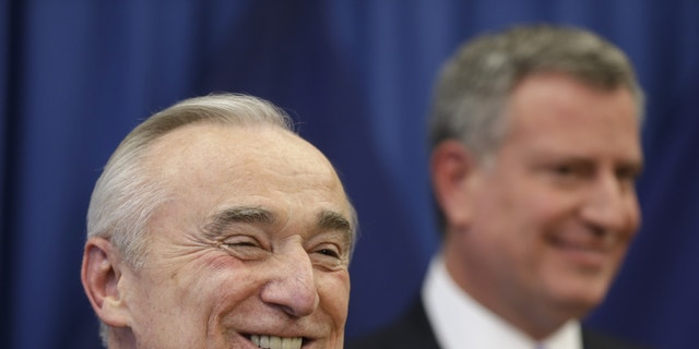 William Bratton during a news conference in New York, Thursday, Dec. 5, 2013.