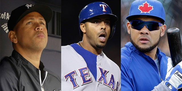 (Left to Right) Alex Rodriguez, Ryan Braun, Nelson Cruz and Melky Cabrera are among the players whose names have been tied to the clinic. (AP Photos)