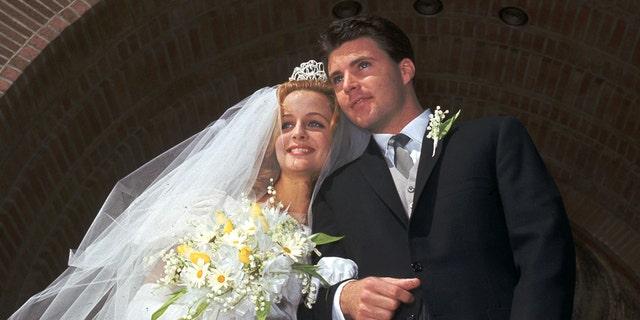 Kristin Harmon and Ricky Nelson on their wedding day.