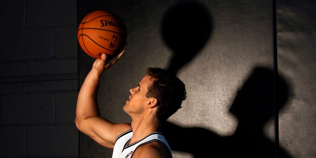 Oct. 1, 2012: Brooklyn Nets forward Kris Humphries is photographed during team media day, in the Brooklyn borough of New York.