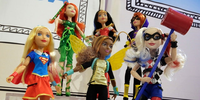 Mattel DC Super Hero Girls on display at the annual TTPM Holiday Showcase, in New York.