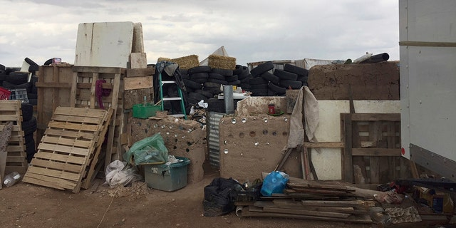 The makeshift compound was located near the border with Colorado.