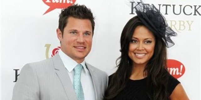 May 7, 2011: Nick Lachey and fiancee Vanessa Minnillo arrive for the 137th Kentucky Derby horse race at Churchill Downs in Louisville, Ky.