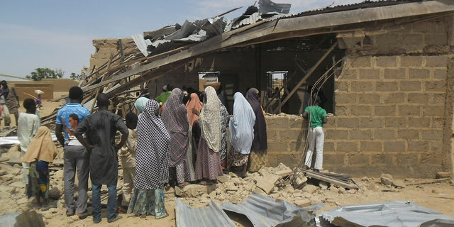 A suicide bomber struck at this Christian church in Potiskum, Nigera, July 5, 2015.