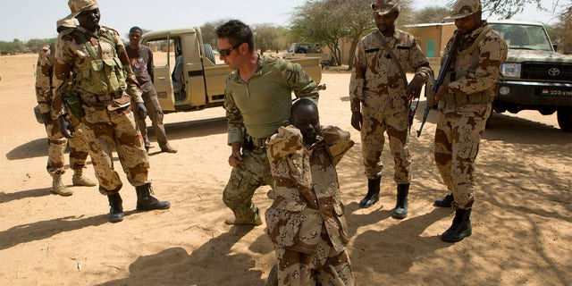 Americans training soldiers in Niger